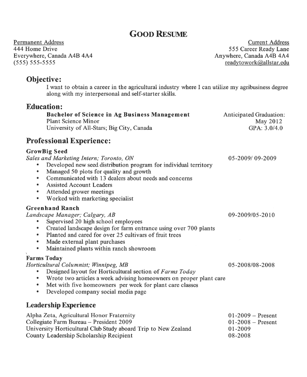 How To Make Good Resume For Internship Preparing To Write Your